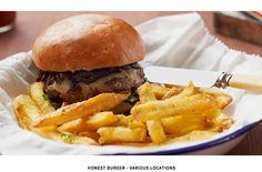 "Honest Burgers (Brixton and Soho). Peter Jon Lindberg, ""London Is the Capital of Food"" in T+L Magazine (February www. Restaurant Hamburger, Burger Restaurant, London City, London Food, London Style, East London, Gluten Free Restaurants, London Restaurants, London Pubs"