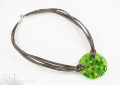Murano glass oversized necklace  Green statement by EThandmadeshop