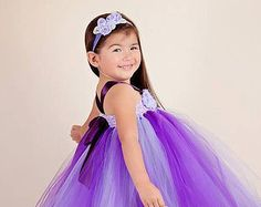 Lavender Orchid Flower Girl Dress lavender by SoCutsieTootsie