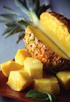 Fresh pineapple - it's so sweeeet...like natural candy!