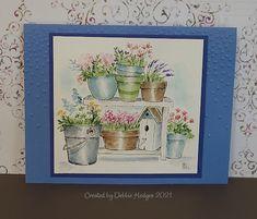 Garden Wagon, Small Alphabets, Tombow Markers, Beautiful Birthday Cards, Art Impressions Stamps, Pumpkin Farm, Flower Cart, Beautiful Farm, Wall Accessories