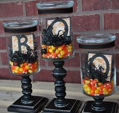 Halloween Apothecary Jars - Click image to find more Holidays & Events Pinterest pins