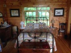 Virginia Mountain Dream Comes True with Honest Abe Log Homes Log Home Bedroom, Bedroom Decor, Loft Bedrooms, Virginia Mountains, Beautiful Bedrooms, Log Homes, Houses, Furniture, Home Decor