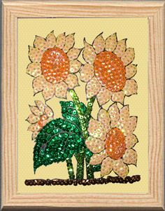 Sunflowers made with Color Dome pins and sequins. Girasoles hechos con alfileres Color Dome y lentejuelas Do It yourself. pinsart.com Art En 2d, Pin Art, Sunflowers, Sequins, Plants, Diy, Color, Drawing Drawing, Bricolage