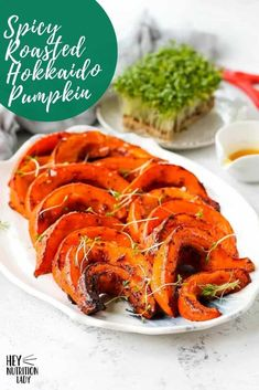 These Spicy Roasted Hokkaido Pumpkin Wedges are a simple, healthy, and delicious vegetarian side dish. Made with thin-skinned pumpkin also known as red kuri squash, the skin is edible which makes preparation a cinch for this hokkaido pumpkin recipe. Veggie Recipes Healthy, Tasty Vegetarian Recipes, Healthy Vegetables, Healthy Dishes, Vegan Dishes, Vegetarian Comfort Food, Vegetarian Side Dishes, Vegetable Side Dishes, Veggie Side