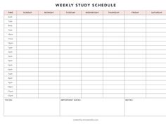emma's studyblr — Weekly study schedule printable After releasing my. Schedule Printable, Printable Planner, Schedule Templates, Printable Scrapbook Paper, Daily Planner Pages, Planner Book, School Motivation, Study Motivation, Weekly Planner Template