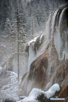 Photo taken on January 12, 2014- Winter in Jiuzhaigou Valley, Sichuan Province