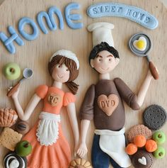 Yusie's Art & Craft: My Clay Craft(粘土作品) Polymer Clay Fairy, Polymer Clay Figures, Polymer Clay Flowers, Polymer Clay Projects, Diy Clay, Clay Crafts, Arts And Crafts, Paper Clay Art, Clay Wall Art