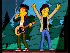 Mick Jagger and Keith Richards on The Simpsons