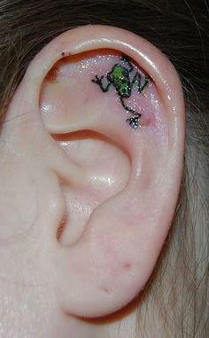 ear Frog Tattoo