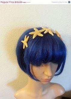 SALE Starfish headband Beach wedding tropical by msformaldehyde, $13.50