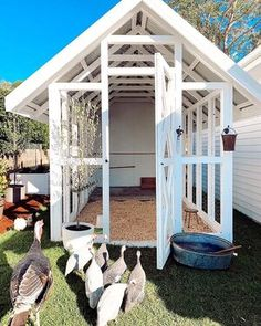 HOUSE ONE — THREE BIRDS RENOVATIONS Chook Pen, Three Birds Renovations, Modern Coastal, Coastal Homes, Coastal Farmhouse, Outdoor Entertaining, The Hamptons, New Homes, Outdoor Structures
