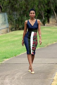 Hey, I found this really awesome Etsy listing at https://www.etsy.com/listing/185257234/gorgeous-denim-cord-and-kente-dress