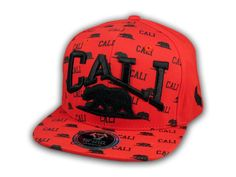 This is a High Quality California Republic Bear Red and Black Flat Bill Hat from Top Level. It has Embroidered Cali and Bear in on the Front! With Cali in Print! Embroidered California State on the Side! And Bear Embroidered on the Back! Flat Bill Hats, Hip Hop Hat, California Republic, Snapback Cap, Black Flats, Baseball Hats, Bear, 3d, Free Shipping