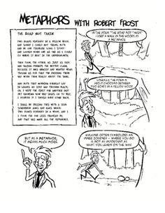 Poetry Comics: Metaphors with Robert Frost This is a free file from a larger product called Poetry Comics: Metaphor, Tone, and Personification. Teaching Poetry, Teaching Language Arts, Teaching Writing, Teaching English, Teaching Resources, Teaching Literature, Teaching Ideas, Literary Elements, Literary Terms