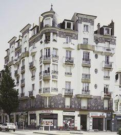 Immeuble Poirier, angle de l'avenue Janvier et de la rue Duhamel, Rennes - architecte : Jean Poirier