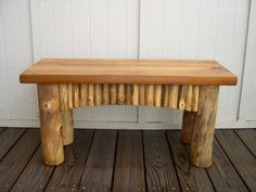 Colorado Aspen Log Bench for Indoor or Outdoor by RusticLogDecor, $189.95