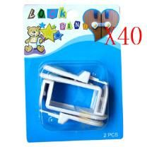 Wholesale Lot of 40 X Drawer Locks - Drawer Lock - Safe - Easy to Use