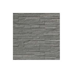 Msi Pencil Ledger Panel 6 X 24 Natural Stone Splitfaced Tile In Charcoal Amp