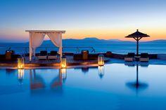 Sunset Pool, Santorini, Greece---Heaven! Via bluepueblo.tumblr