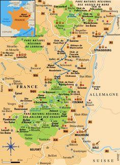 The Vosges with natural parks - (Alsace, Franche-Comté, Lorraine) Road Trip France, Road Trip Europe, Paris Travel, France Travel, Lorraine, Ville France, Ski Holidays, Natural Park, Travel Checklist