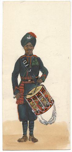 British; 6th Rajputana, Drummer, c.1914
