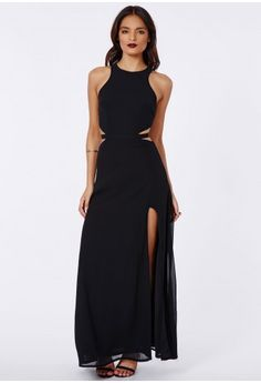 Proving that black is as chic as ever, this elegant floaty maxi is a fabulous choice for your big events this season. Perennially sexy and red carpet inspired, all this beautiful gown needs is a pair of your highest heels and plenty of red ...