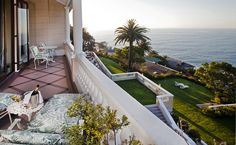 Ellerman House Villa One at Ellerman House in Cape Town, South Africa. Views overlooking Cape Town and the endless blue of the Atlantic Ocean.