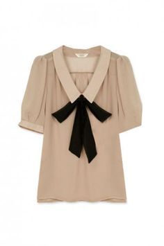 Feminine Bowknot Cream Shirt. ROMWE. $48.99. There's something about bows that I can't quite put a finger on. I LOVE IT.
