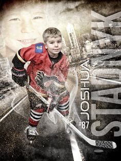 Custom hockey sports poster collage created from your photos. View and order yours at http://anythingphotos.com/sports