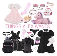 """""""Things I want"""" by pastel-bear on Polyvore featuring Hello Kitty, Lake, Miss Selfridge, Betsey Johnson, DK and Calvin Klein"""