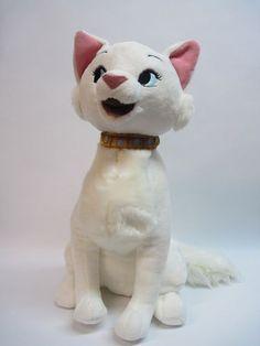 "XL Aristocats Duchess DISNEY STORE Rare Version Collar 15"" Plush Stuffed Animal $269.99 free shipping!"