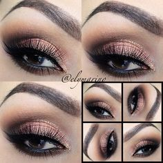 Peach Sparkle Eyes #elymarino
