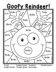 Color by Number Addition Fun!!!!! This freebie is a color by number page that is perfect for students to practice addition facts during the holiday season! Students will enjoy solving the addition problems and coloring the picture! If you like this color by number activity, check out the entire pack on my TPT store!
