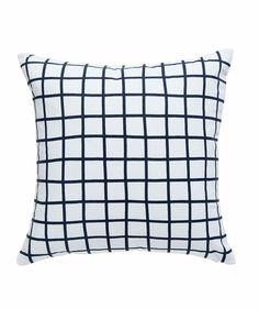 Grid Cushion Slate. | http://www.huntingforgeorge.com
