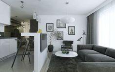 дизайн кухни-гостиной с барной стойкой