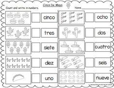 Spanish Numbers Printable Writing Practice Worksheet