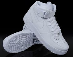 all white high top air forces - Highscool years