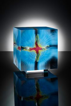 Paintings Suspended in Layers of Glass by Wilfried Grootens - Art People Gallery
