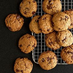 EatingWell reader Beverley Sharpe of Santa Barbara, California, contributed this healthy chocolate chip cookie recipe. She gave chocolate chip cookies a healthy update by cutting back on sugar and incorporating whole grains. To increase protein, Sharpe replaces the rolled oats with 1 cup almond meal.