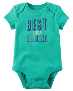Best Little Brother Bodysuit from Carters.com. Shop clothing & accessories from a trusted name in kids, toddlers, and baby clothes.
