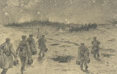 Drawing of Western Front by painter Alfred Schönberner. Europeana 1914-1918, CC BY-SA