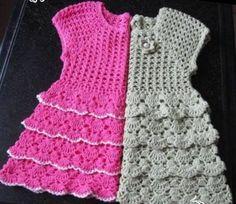 Crochet For Children: Dresses For Girls - Free Crochet Diagram