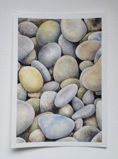 Original Watercolor Painting stones home decor by SuayaArt on Etsy Winsor And Newton Watercolor, Watercolor Drawing, Painting & Drawing, Watercolor Paintings, Original Paintings, Papier Paint, Drawing Rocks, Nature Drawing, Painted Books