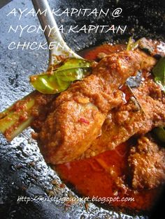 My Little Space: Ayam Kapitan @ Nyonya Chicken Curry 甲必丹娘儿咖喱鸡 Curry Recipes, Seafood Recipes, Indian Food Recipes, Asian Recipes, Chicken Recipes, Cooking Recipes, Healthy Recipes, Ethnic Recipes, Indonesian Recipes