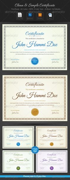 Experience certificates certificate print templates and ai clean simple certificate yadclub Image collections