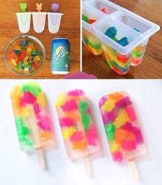 Gummy Bear Ice Pops