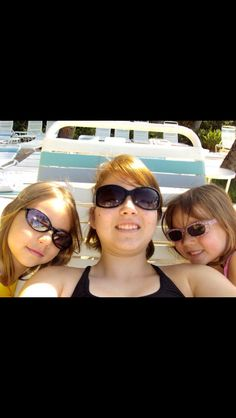 All three sisters at the beach