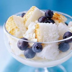 Angel Food Cake with Lemon Cream and Berries-use no sugar cake