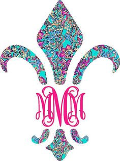 Hey, I found this really awesome Etsy listing at https://www.etsy.com/listing/183698642/fleur-de-lis-monogram-car-decal